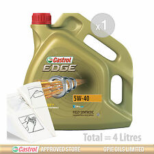 Engine Oil Service Kit: 4 litres of Castrol EDGE TITANIUM 5w40 FST