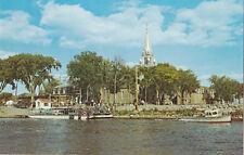 Traversier Lac des Deux-Montagnes & Église OKA Quebec Canada Beauchamp Postcard