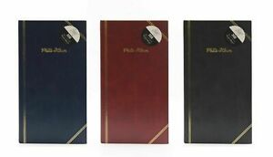 """Traditional 6"""" X 4"""" Photo Album with 200 Pockets Black, Blue or Burgundy"""