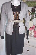 Noa Noa Strickjacke Cardigan Merino Knit  Grey Melange size: S Neu