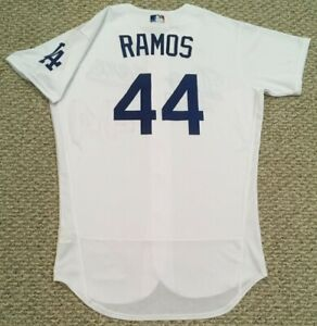 RAMOS size 46 #44 2020 Los Angeles Dodgers home game jersey issued MLB HOLO