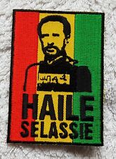 KING HAILE SELASSIE PATCH Badge His Imperial Majesty Freedom Fighter Rasta Jah
