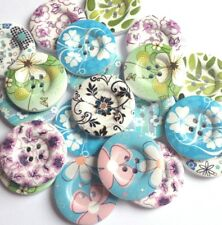 20  30mm Flower Sewing Chic Wood Buttons Craft Scarpbooking Sew Cardmaking Large
