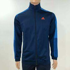 Adidas Herren Sports Trainingsjacke Reißverschluss Leicht M Blau Orange Streifen