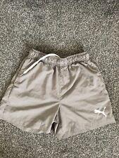 Puma Grey Mens Running Shorts Gym Workout Elastic Waist Size XS