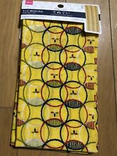 JAPAN TENUGUI japanese Towel 34×13in colorful Komon pattern Yellow cotton
