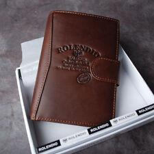 ROLENDIO Genuine Cow Leather Men's Passport Wallet J522