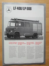 MERCEDES BENZ UNIMOG 416 LF408 LP608 Fire Fighting Vehicle 1974 Leaflet Brochure