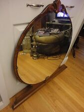 Vtg Antique Art Deco Vanity Lrg Round Mirror Table Top~ Wall Or Dresser Mount