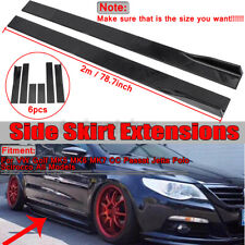 """2x 78.7"""" Side Skirt Extension Rocker Panel Splitter For VW Golf MK5 MK6 MK7 GTI"""