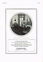 1920s BIG Vintage Altman Furniture Decorating Period Interior Photo Print Ad