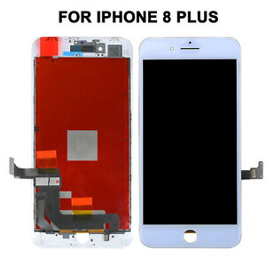 """For iPhone 8 Plus 5.5""""LCD Touch Digitizer Screen Display Frame Replacement White"""
