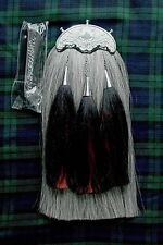 Royal Scots Dragoon Guards Military Grey Horse Hair Sporran with chain belt.