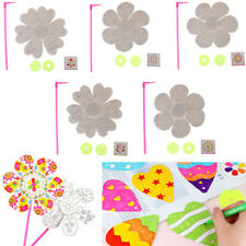 Blank windmill drawing toy DIY painting graffiti coloring puzzle Kids toys FT