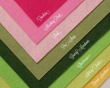 "WOW SPRING FLOWERS Felt Collection Merino Wool Blend Felt EIGHT 12"" X 18"" Sheets"
