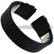 18-22mm Speidel Black Sport Metal Mens Watchband Fits Casio G Shock  1693/02