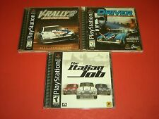 V-Rally 2, Driver & The Italian Job CIB Complete GREAT COND for Playstation PS1!