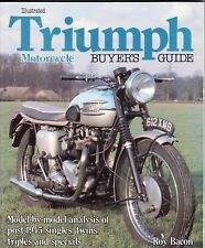 Triumph Motorcycle, Illustrated Buyer's Guide, Roy Bacon 1st Edition, F/SH