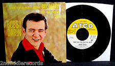 BOBBY DARIN-Won't You Come Home Bill Bailey 45 + Picture Sleeve-ATCO  #4502