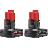 Milwaukee 48-11-2412 M12 REDLITHIUM XC 3 Ah Li-Ion Battery (2-Pc) New