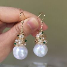Baroque Kasumi 12.5x17mm pearl Natural Pink-Purple 14KGF earring AA