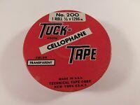 Vintage Tuck Cellophane Tape Metal Tin, Empty - FREE SHIPPING