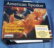 American Speaker Briefings Publishing Group American Speaker Subscription 2007
