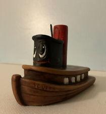 Vintage Porcelain Tug Boat - Scuffy - Christmas Tree Ornament