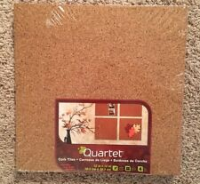 Quartet Cork Tiles Frameless Modular Tile Bulletin Board, 12 X 12 Inch