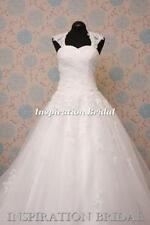 A-line Cap Sleeve Strapless Wedding Dresses