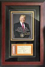 President Donald Trump PSA DNA MINT 9 Graded Slab Inauguration Ticket Framed