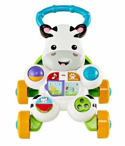 Fisher-Price Learn with Me Zebra Walker, Fun Music and Sounds - Multilingual NEW