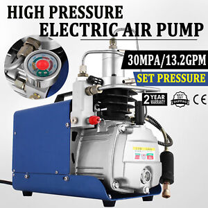 YONG HENG 110V 30Mpa Auto Shut Air Compressor Pump 4500PSI High Pressure PCP