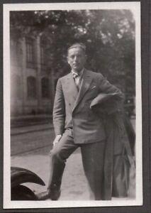 VINTAGE PHOTOGRAPH 1930'S DAPPER DON MEN'S SUIT/HAIR/TIE FASHION GERMANY PHOTO