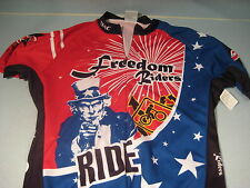 ATAC Freedom Riders Red White Bike Cycling Riding Racing Jersey Shirt Top Sz M
