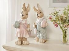 Osterhase Figur XL Ostern Frühjahr Deko Haus & Garten Pinsel Tasche Höhe 48 cm