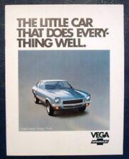 CHEVROLET VEGA CAR SALES BROCHURE 1972.