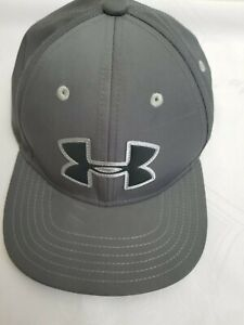 New Under Armour Youth Boys UA Blitzing 3.0 Cap Gray Stretch Fit Baseball Hat