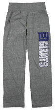 NFL Football Youth Girls New York Giants Fashion Lounge Pants, Heather Grey