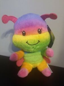 "NWT Build A Bear Smallfrys Buddies Rainbow Caterpillar 7"" Plush Stuffed Animal"