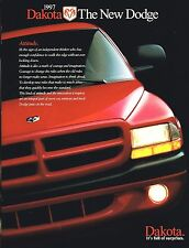 Lrg.1997 Dodge DAKOTA PickUp Truck Brochure w/Color Chart: SPORT,SLT,Club Cab,+,