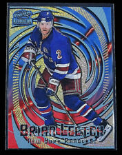1997-98 Revolution Ice Blue #89 Brian Leetch Hockey Card New York Rangers