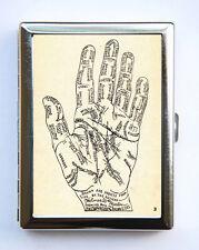 Palm Reading Palmistry Cigarette Cigarette Case Wallet Business Card Holder