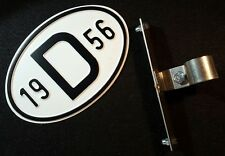 D-PLATE ALUMINUM PORSCHE 356 911 BMW VW SPLIT OVAL GHE PEROHAUS BADGE KDF