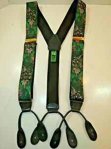 WORLD WILDLIFE FUND Braces/Suspenders Green Jungle - Leather Fittings Perfect 22
