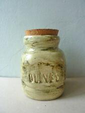 grand pot en céramique pour les olives, signé Idlas, vintage années 60