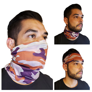 New Camo Face Mask Baclava Neck Gaiter Biker Tube Wrap Head Cover Bandana Scarf