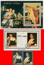AJMAN / UAE 1972 TITIAN PAINTINGS  + 2 S/S ART, NUDE