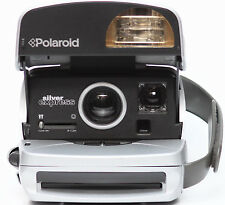 Polaroid Silver Express Instant 600 Film Camera Takes Impossible Project Film