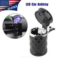 LED Light Auto Car Ashtray Stand Smokeless Cigar Cigarette Ash Cup Holder US